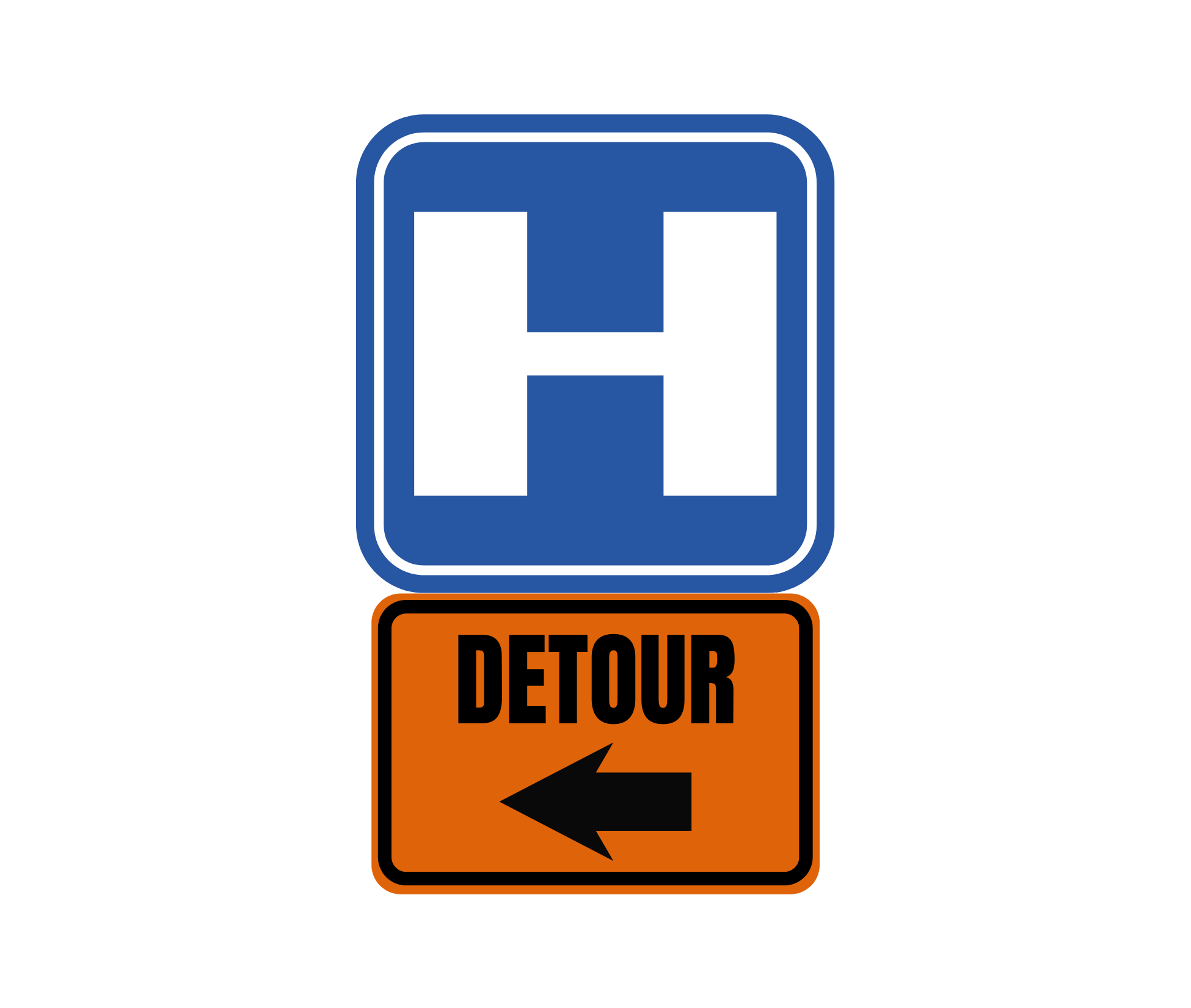 Dosher Detour Sign