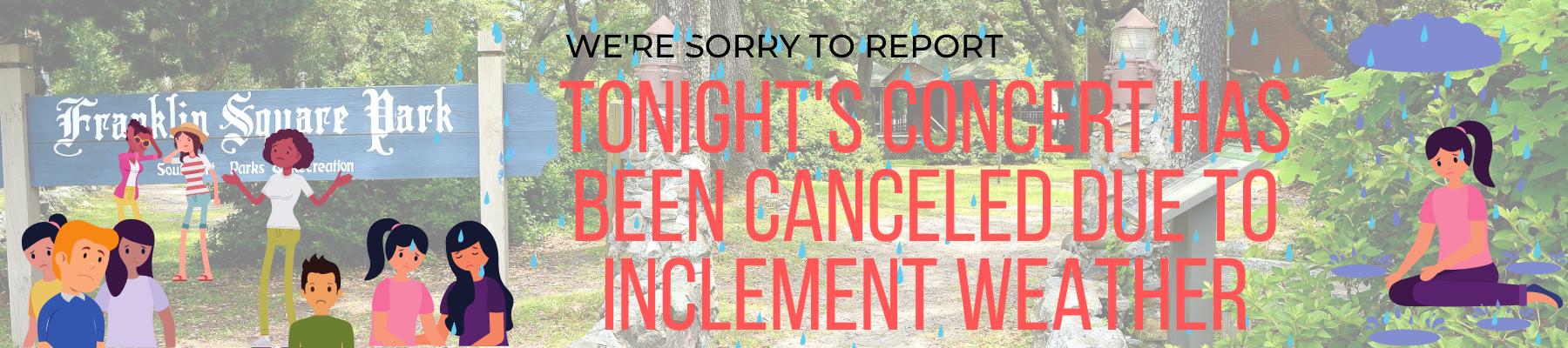 concert canceled